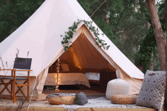 Bushland Bell Tent - Adelaide Hills Glamping - South Australia Road Trips